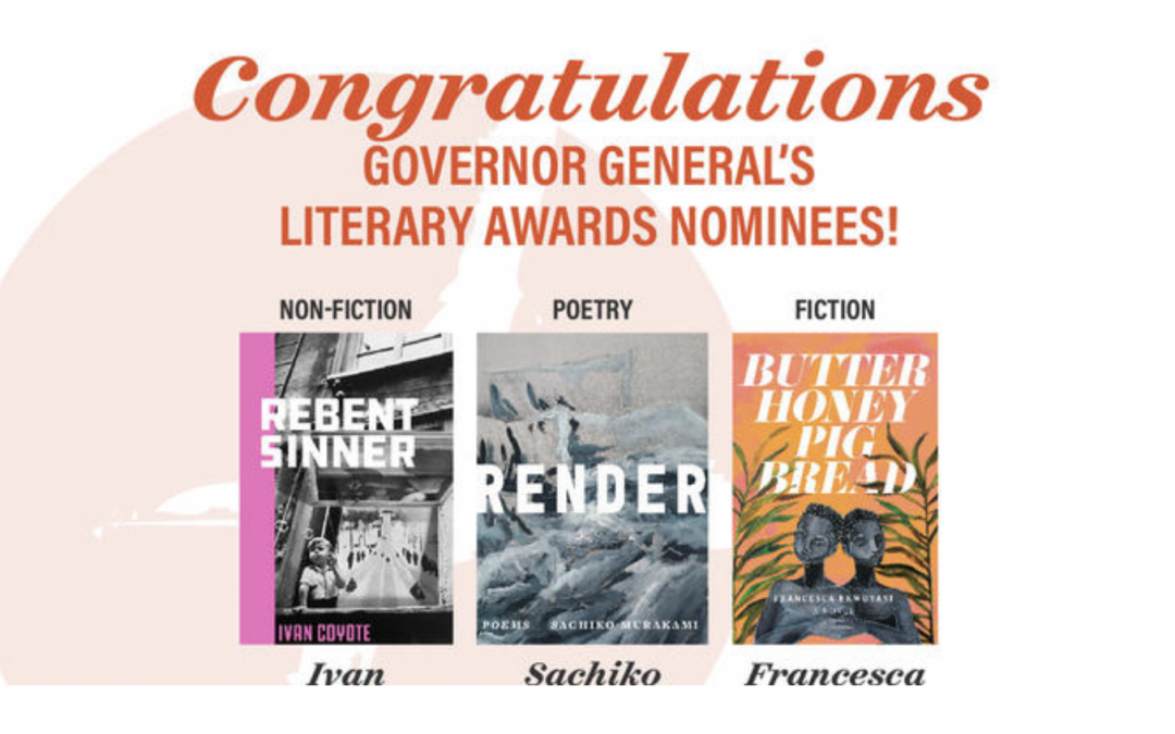 Governor General's Literary Award finalist